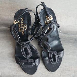 Valentino Garavani Black vintage sandals size 37.5